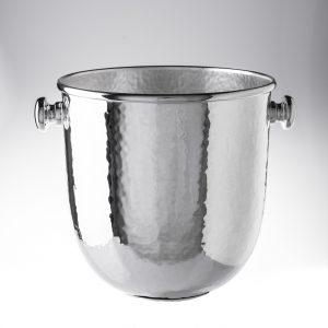 Secchio ghiaccio champagne in argento battuto trilaminato