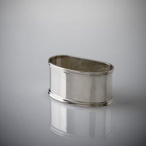 Lega tovagliolo argento 925 elegante mezzaluna