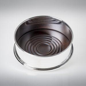 Sottobottiglia stile inglese argento 925 o silver plated con base in legno