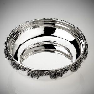 Ciotola in argento 925 con decorazione