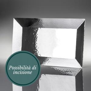 vassoio battuto argento personalizzabile