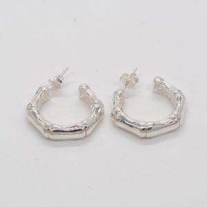 orecchini argento canna di bambù