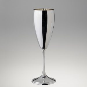 Flute bicchiere modello tulipano in argento 925 o silver plated