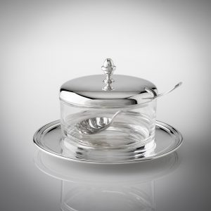 Formaggiera argento 925 o silver plated stile inglese