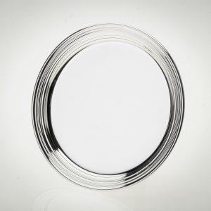 Sottobottiglia e sottobicchiere argento 925 silver plated stile inglese