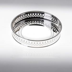 Sottobottiglia decorato in argento 925 o silver platedcon griglia