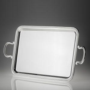 Vassoio argento 800 o silver plated a rettangolo