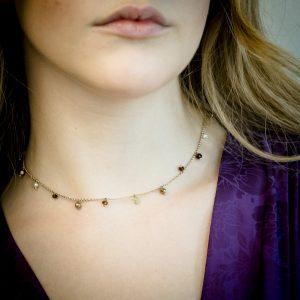 collana argento pietre colorate