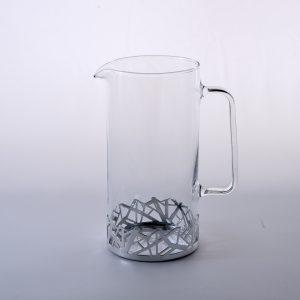 caraffa vetro e argento