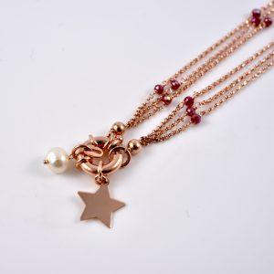 collana oro rosa ciondolo a stella