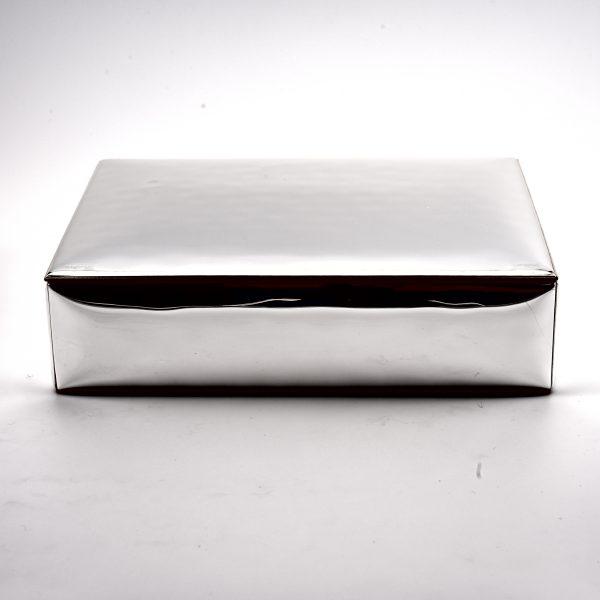 scatola porta oggetti argento