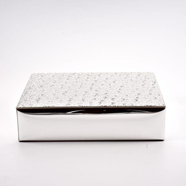 scatola porta gioie argento fiori