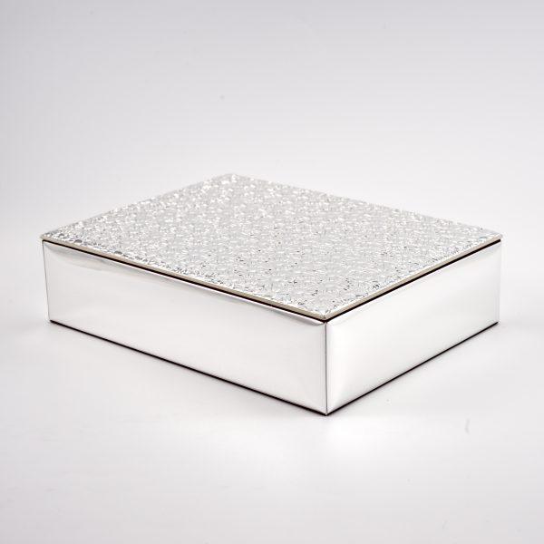 scatola porta gioie argento