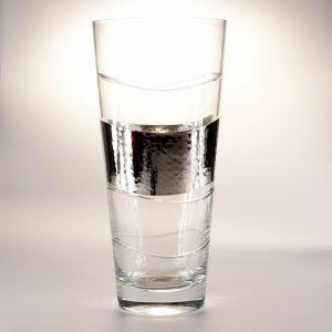vaso in vetro e argento