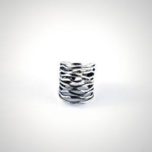 anello rigido in argento regolabile