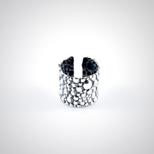anello rigido in argento regolabile artigianale