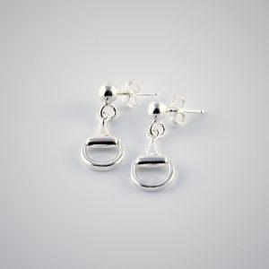 orecchini in argento a staffa piccoli