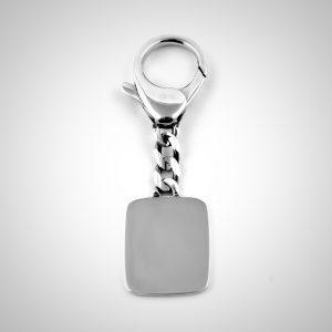 portachiavi in argento personalizzabile