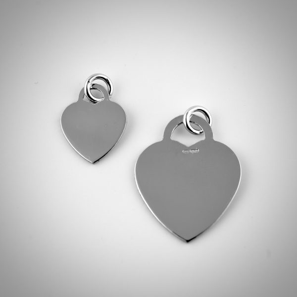 ciondolo a cuore argento stile tiffany
