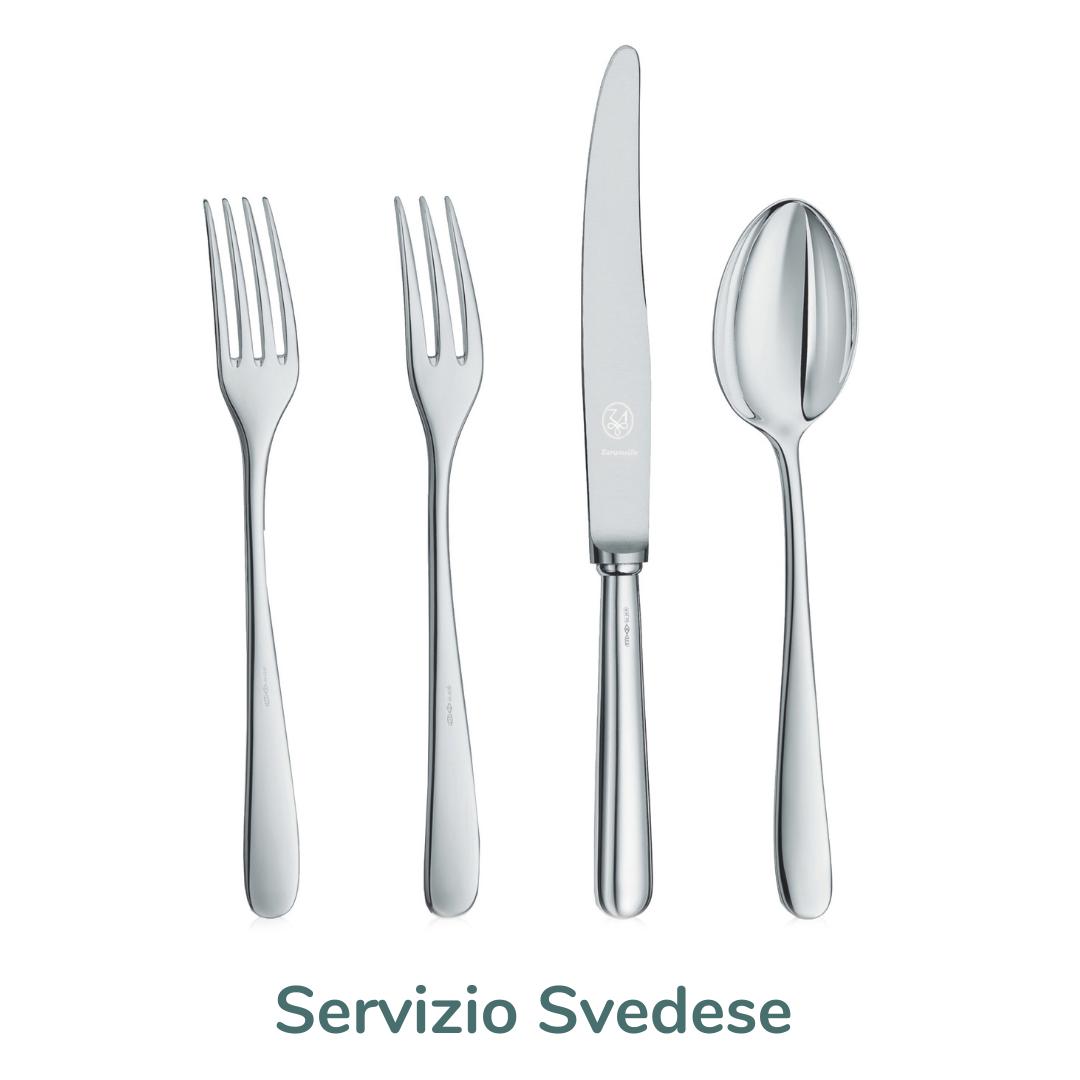 servizio posate svedese silver plated