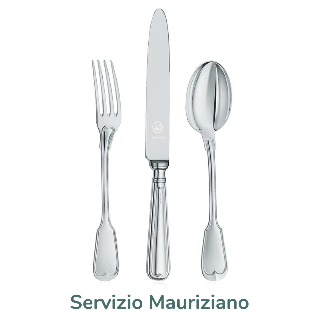 servizio posate mauriziano silver plated