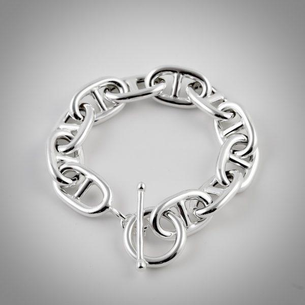 bracciale argento maglia marina