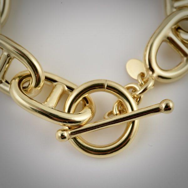 bracciale oro giallo maglia marina