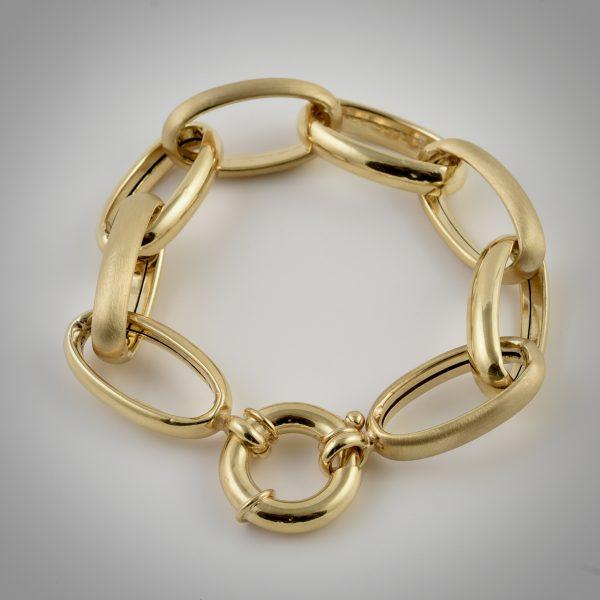bracciale catena oro giallo