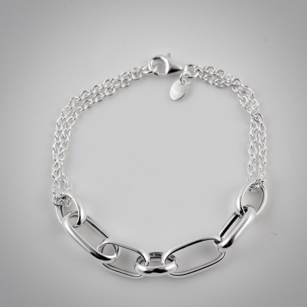 bracciale argento catena
