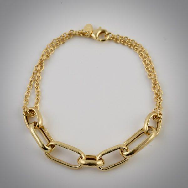 bracciale oro catena maglie