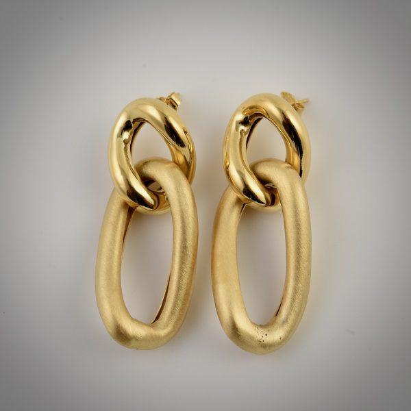 orecchini catena oro giallo