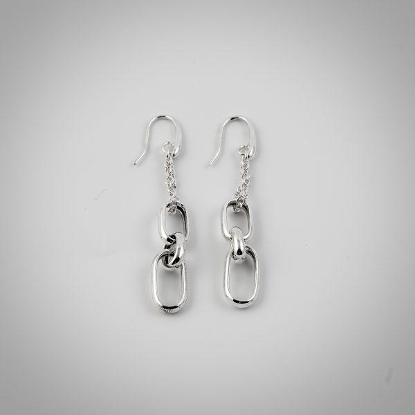 orecchini argento lunghi catena